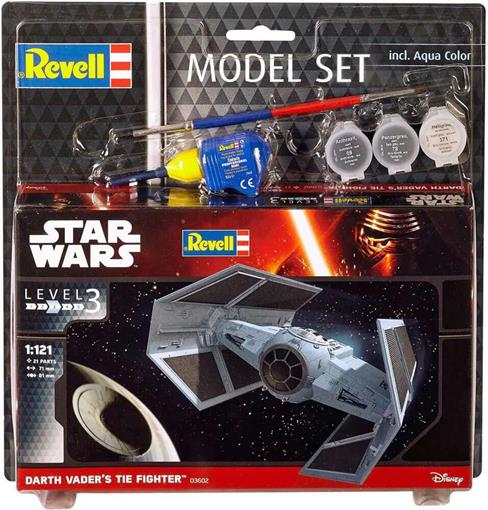 Picture of Revell Star Wars Darth Vaders Tie Fighters Model Maketi - 1:121