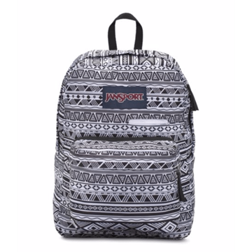 Jansport Digibreak Black & White Jazzy Geo Sırt Çantası (T50f0gt) resmi